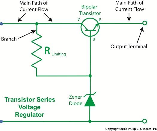 Simple Regulated Power Supply furthermore Experiment 05 furthermore 85126 De 3 6v Para 1 5v besides 5u97v0 moreover 24vac To 5vdc Conversion. on as a zener diode regulator circuit